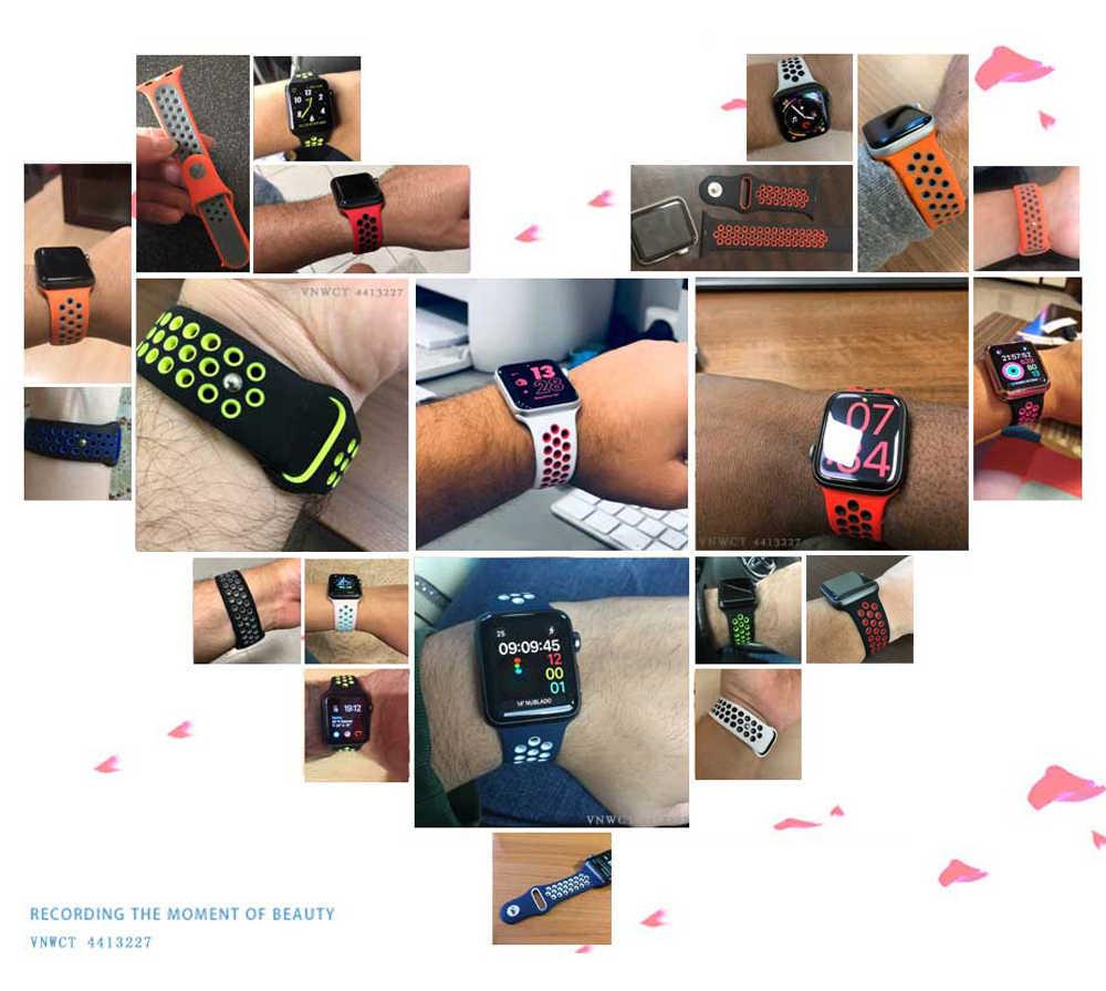 Bracelet de montre souple pour apple Bracelet de montre 42mm 44mm Bracelet iwatch 4 remplacer apple Bracelet de montre 4/3/2 40mm 38mm Bracelet Bracelet de montre