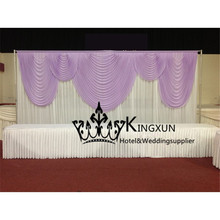 3m*6m Lilac Design With White Wedding Backdrop Free Shipping