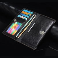 Genuine Cow Leather Phone Case Hand Card Wallet POUCH For Xiaomi Redmi Note 4G Redmi Note