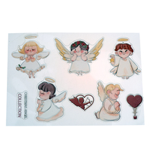 Different Little Angel Pattern Silicone Stamp Colorful Cartoon  DIY Scrapbook Card Embossing Transparent Clear Stamp Decoration