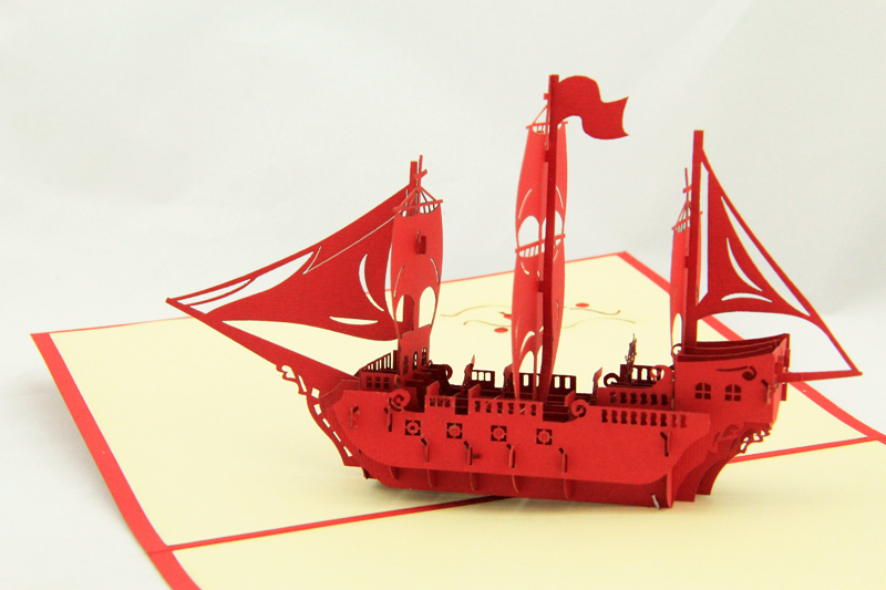Hot sales Red hollowout the ship card /Super cute handmade greeting cards gift Free shipping hot sale board game never have i ever new hot anti human card in stock 550pcs humanites for against sealed ship free shipping