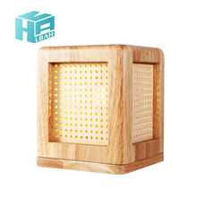 Square solid wood desk lamp originality character warmth children lamp head of a bed bedroom dormitory decorates gift lamp(China)