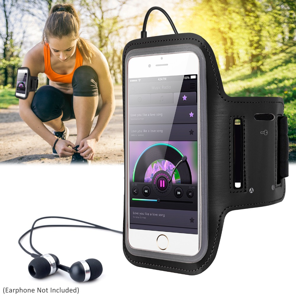 Sports Running Armband 5.5 inch Phone Armband Celular Waterproof Adjustable Carrying Case for iPhone 8 7 6 Plus Sam Redmi Xiaomi