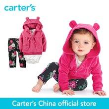 Carter's из 3 предметов для маленьких детей Детский флисовый кардиган набор 121G770 продается из официального магазина Carter's в Китае