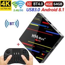 4GB 64GB Android 8.1 TV Box H96 Max+ RK3328 Quad Core 4G/32G