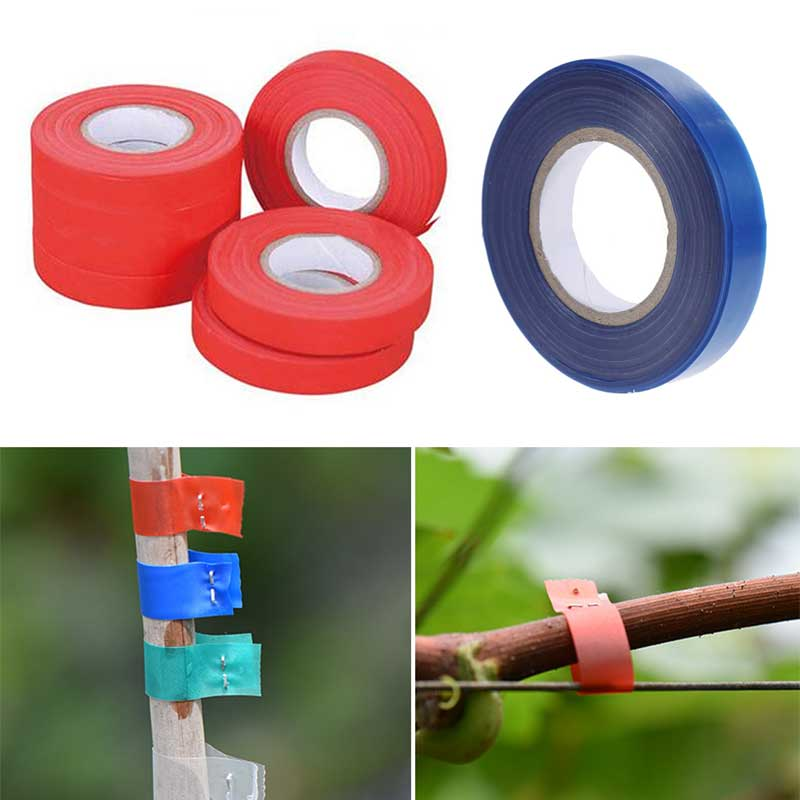 Garden Tape Branch Vine Branches Fixed Tapes PVC Portable Hand Tying Binding Machine Tools Transplantation Tied Sticks