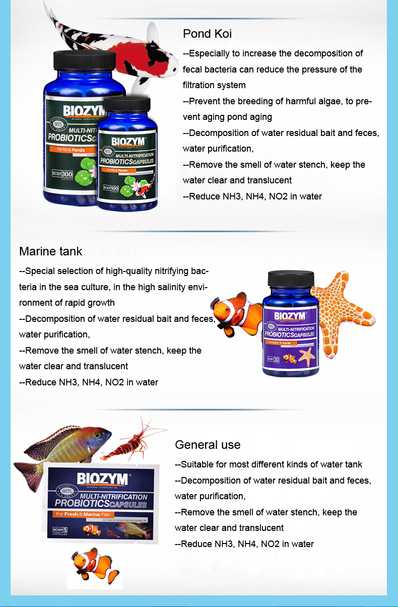 Pet Supplies Fine Biozym Living Bacteria Fish Tank Biological Filtration Improve Water Quality