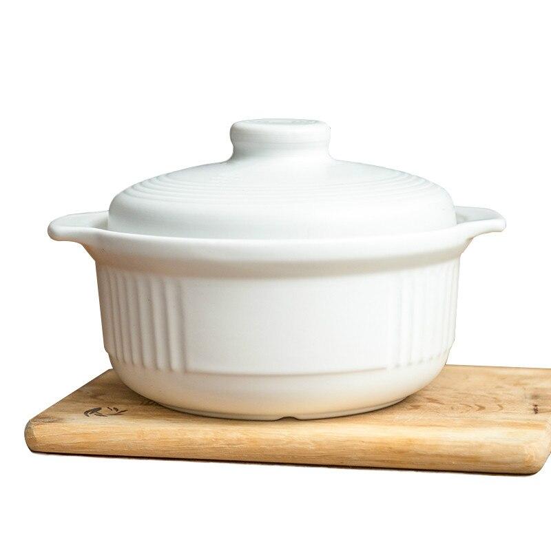Pot à soupe en céramique grande capacité cuisine cuisinière style japonais haute température cuisson au feu soupe bouillie casserole mx12171144