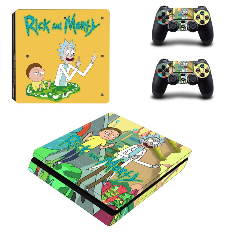 HOMEREALLY PS4 Stickers Rick and Morty PS4 Slim Skin Sticker PS4 Skin Sticker For Sony PlayStation 4 Console and Controller Skin-in Stickers from Consumer Electronics