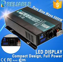 10000W Peak 48V to 220V DC AC Transformer 5000W Off Grid Pure Sine Solar Power Inverter For Household Generator Solar System