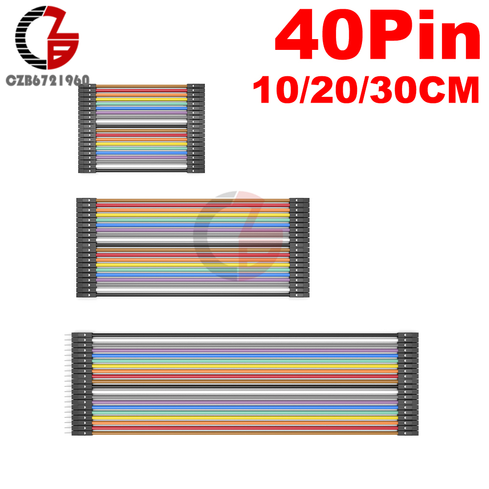 40 Pin Dupont Cable 10CM 20CM 30CM Male to Male to Female to Female Dupont Line Breadboard Jmper Wire Connector for Arduino DIY40 Pin Dupont Cable 10CM 20CM 30CM Male to Male to Female to Female Dupont Line Breadboard Jmper Wire Connector for Arduino DIY
