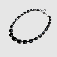 Amorita Boutique Black Crystal Luxury Necklaces