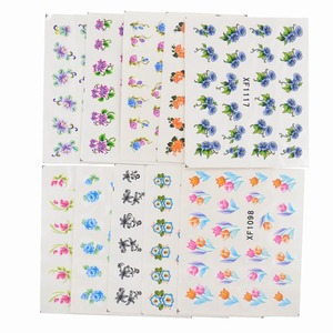 Image 2 - 60 Sheets Flowers Designs Water Transfer Nail Sticker, Watermark Nail Stickers Temporary Tattoos Manicure Beauty Tools