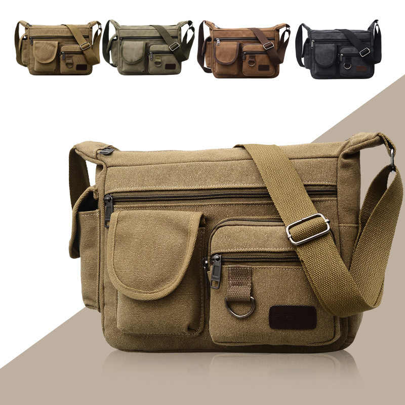 fd551c0200 Fashion Winter New Men s Canvas Single Shoulder Slant Message Bag Large  Capacity Business Leisure Outdoor Message