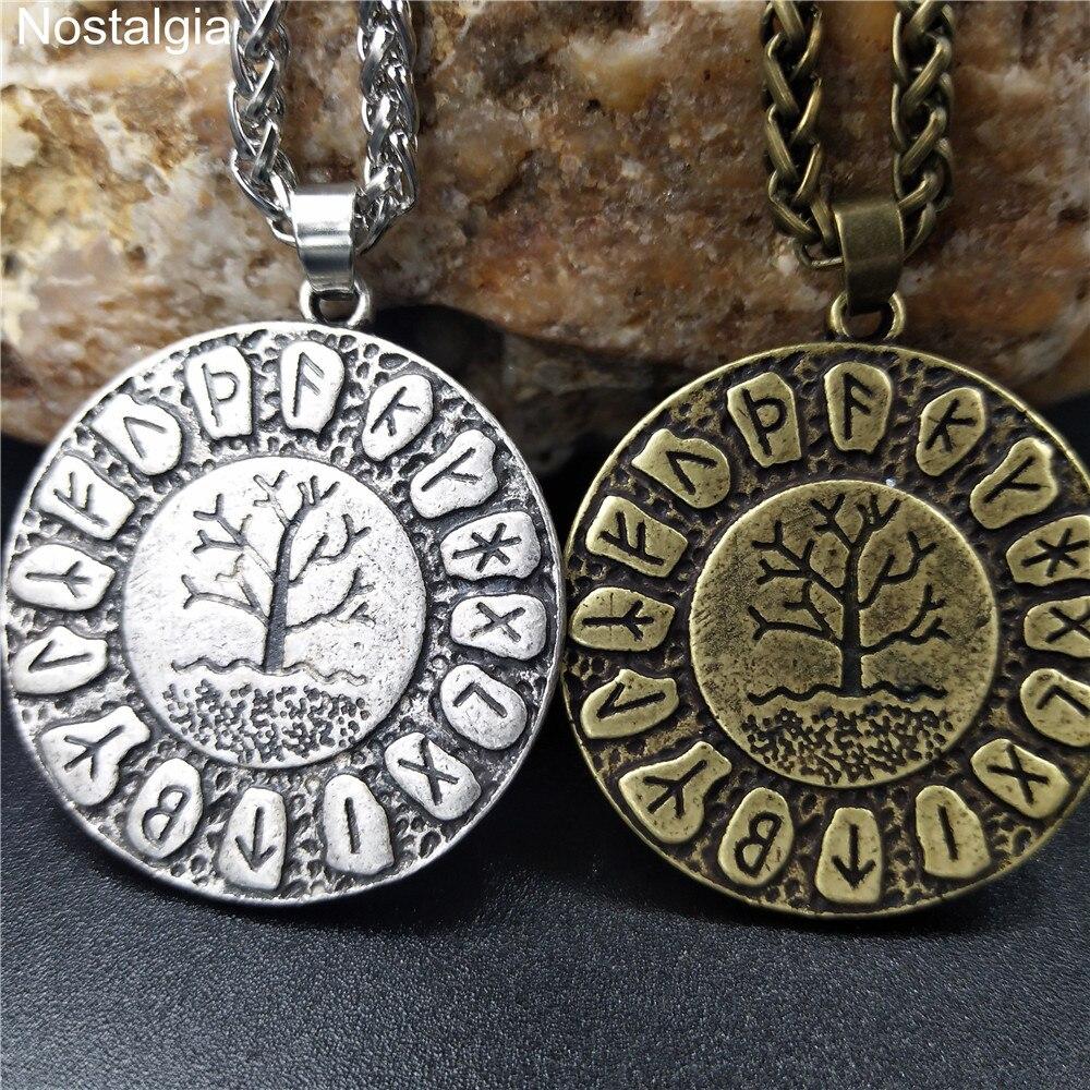 Yggdrasil monde arbre de vie Wicca pendentif Viking Runes bijoux Dragon Soul amulette et Talisman pendentifs colliers livraison directe 2019