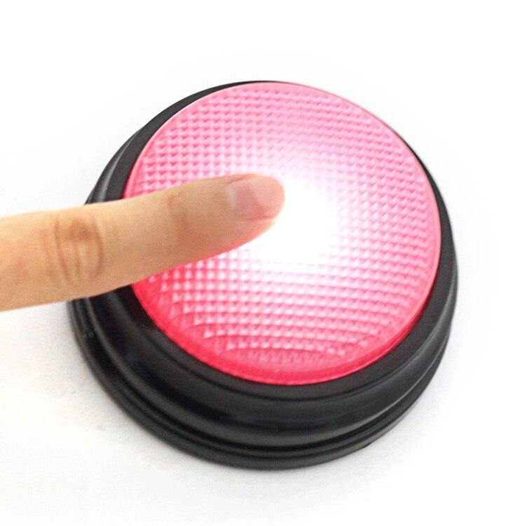 4 couleurs/set 20 s bouton parlant enregistrable avec fonction Led, ressources d'apprentissage répondent aux Buzzers - 3