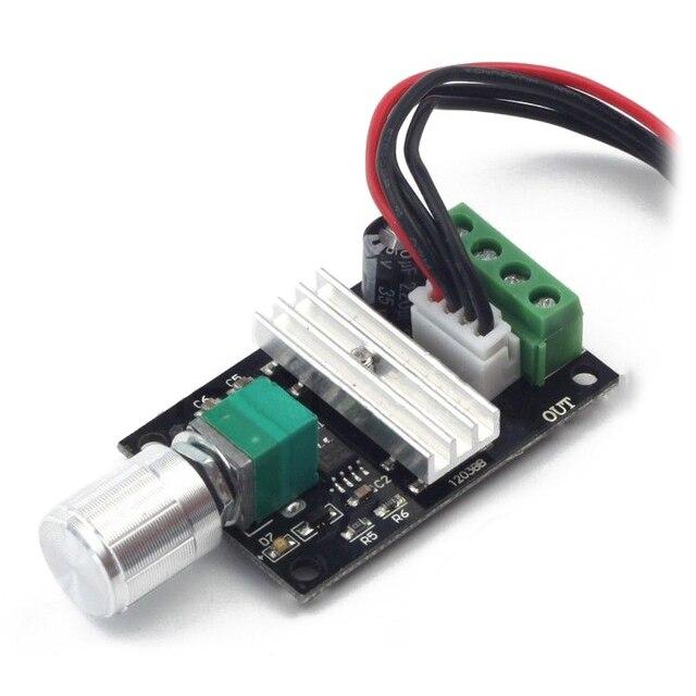 ABKM Hot 6V 12V 24V 3A PWM DC Motor Speed Controller Forward Reverse Switch Control 1203B