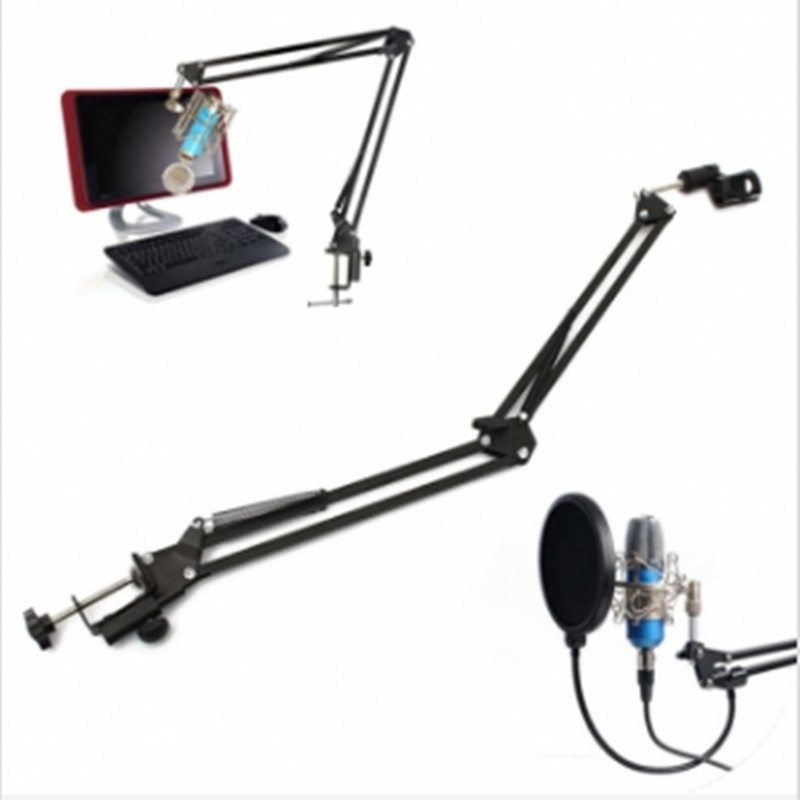 Microphone Suspension Boom Scissor Arm Stand Holder For Broadcast nb 35 microphone arm stand