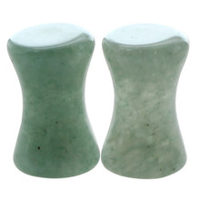 1 Pair of Solid Jade Stone Organic Ear Plugs Gauges Rings Tunnels Piercing Jewelry Green, 5mm(China)
