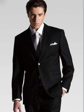 Hot Sale Black Tuxedos Men Wedding Suits Custom Made Formal Occasion