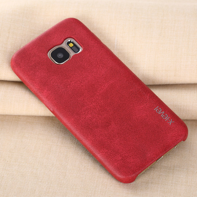 Leather Phone Case For Samsung Galaxy S7 S7 edge Ultra thin Protective Back Cover For Samsung S7 S7 edge