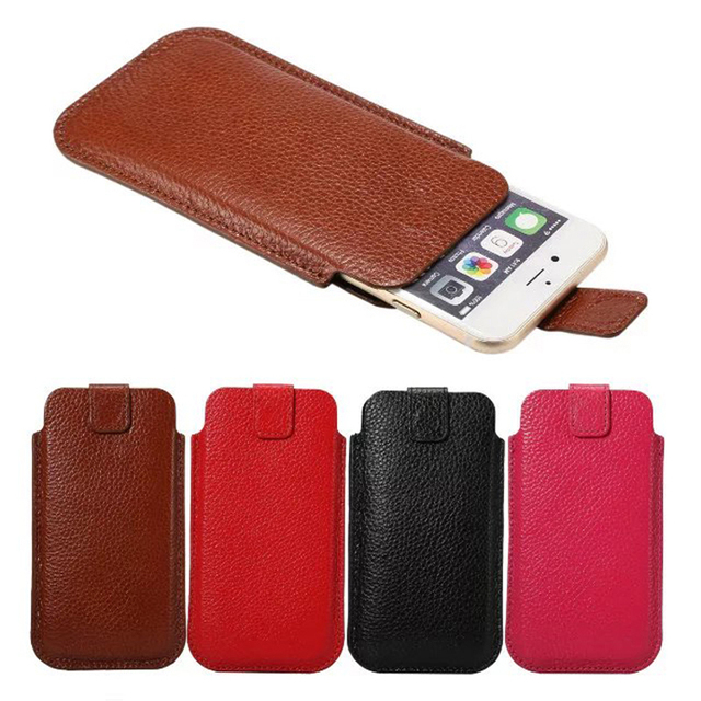 e60f80f982 New Litchi stria Pattern Genuine Cow Leather Punch for iPhone 7