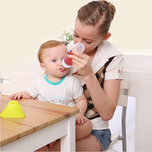 YONG JIU Baby Squeezing Feeding Spoon bottle Silicone Training Scoop Rice Cereal Food Supplement Safe Tableware Extrusion Tools