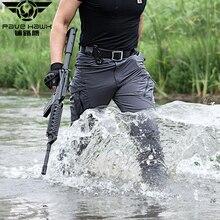 IX9 Pantalones elásticos de senderismo para hombre, pantalón táctico militar, impermeable, para deportes al aire libre, Trekking, Camping, pesca, carga