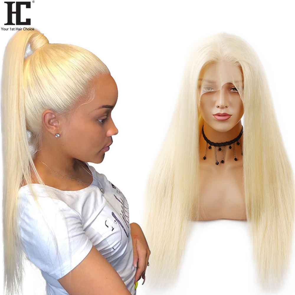 Glueless 613 Lace Front Wig Blonde Lace Front Human Hair Wigs Brazilian Straight Wigs For Women Transparent Lace 150% Remy HC