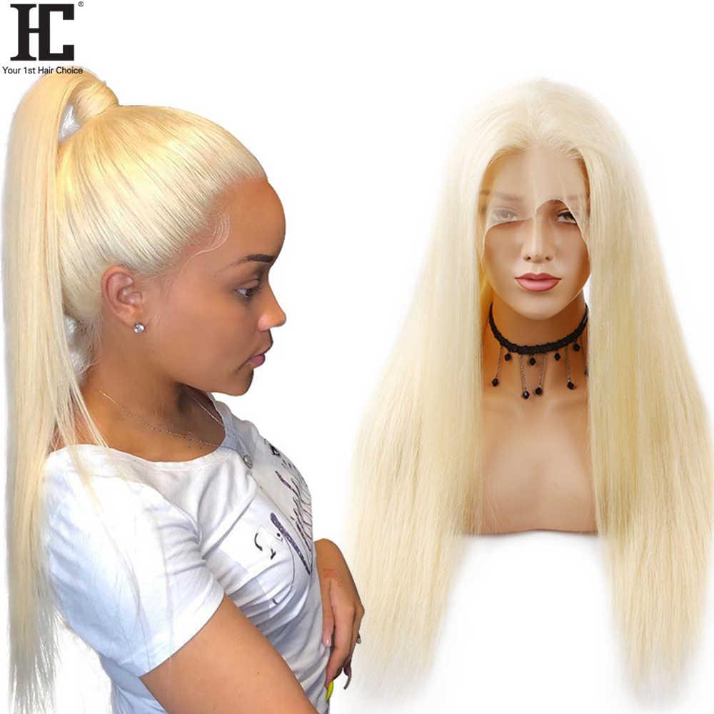 Lijmloze 613 Lace Front Pruik Blonde Lace Front Human Hair Pruiken Braziliaanse Rechte Pruiken Voor Vrouwen Transparant Kant 150% Remy HC