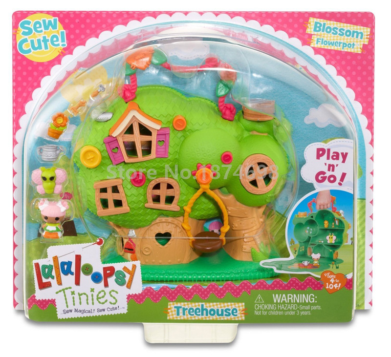 New Mini Lalaloopsy Doll Tinies Treehouse Set Carrying Case Kids Toys Dolls for Girls Christmas Gifts