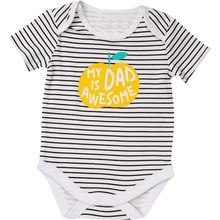 Baby Girls Bodysuit Newborn Babies Boys Body Short Sleeve 3 6 9 12 18 24 Months Bodysuits(China)