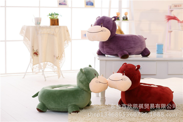 lovely cartoon hippo 60x45cm sofa tatami plush toy sofa floor seat cushion birthday gift w5476 the huge lovely hippo toy plush doll cartoon hippo doll gift toy about 160cm pink