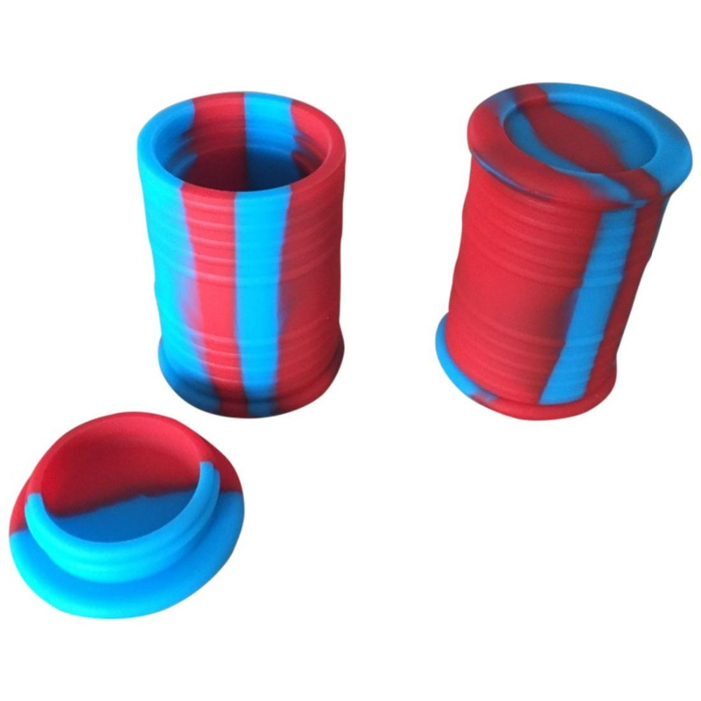 50pcs 6ml Food Grade silicone Oil Dab Containers with