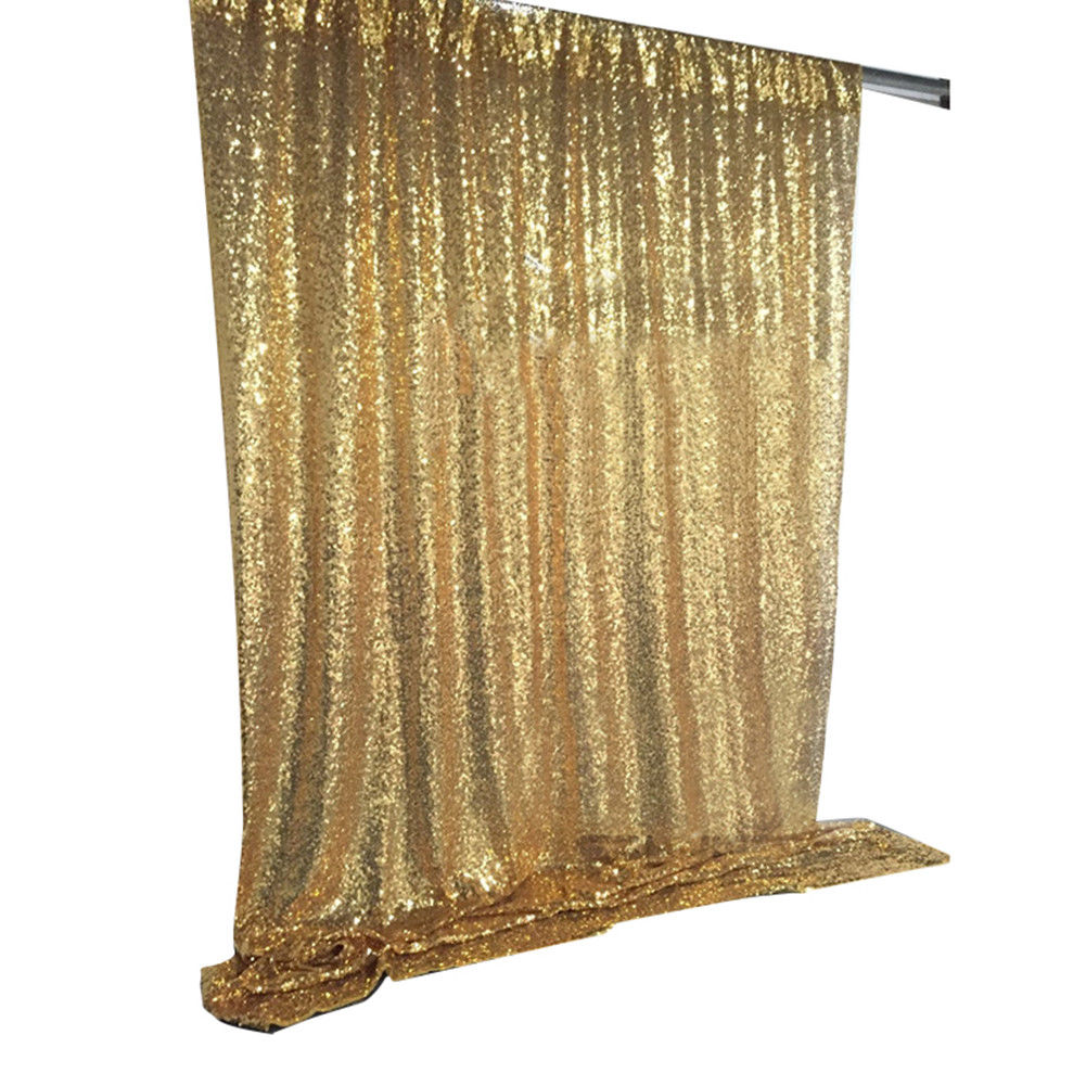 4ftx6ft/10ftx10ft Shiny Gold Wedding Sequin Backdrop Photo Booth Backdrop Christmas Sequin Curtains, Wedding stage background