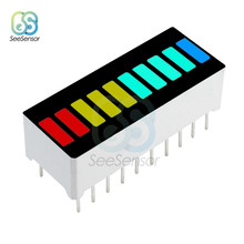 LED Display Module 10 Segment Bargraph Light Display Module DIY Cube Bar Graph Red Yellow Green Blue Colors Multi-color(China)