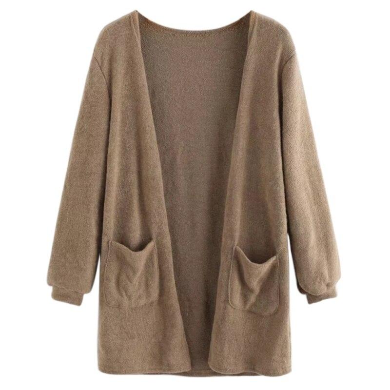 Fashion Women Female Knitting Swtear Cardigan Autumn Long Sleeve Tops Blouse Loose Long Cardigan Outwear For Women F2