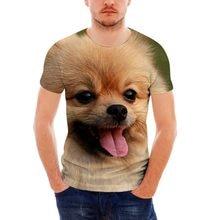 FORUDESIGNS Cute Pomeranian Dog Printing Men T Shirts Brand Designer Man s  Summer T-shirts Fashion 1b2097a98a37