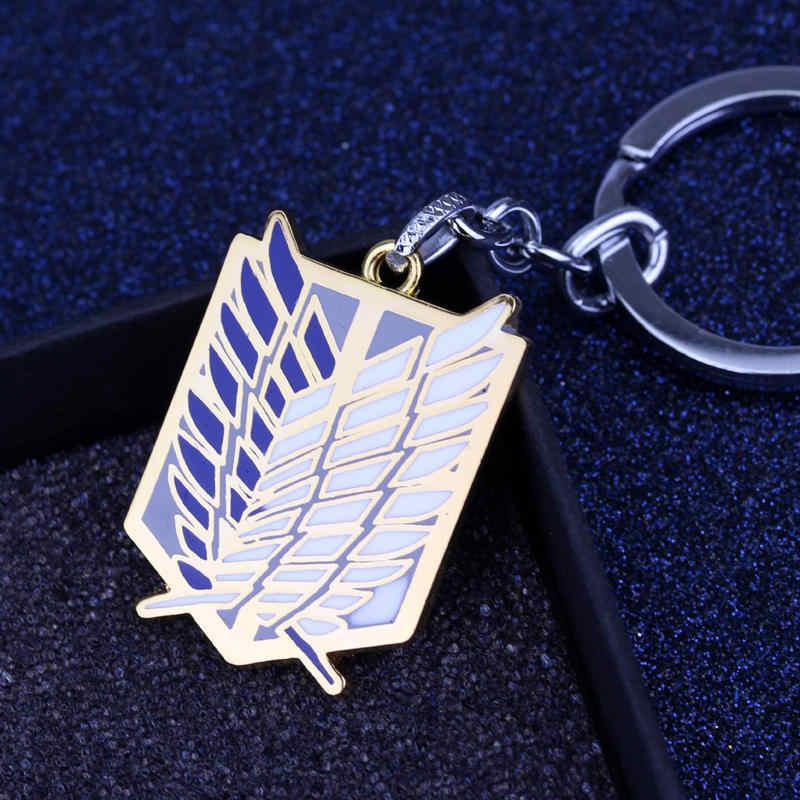 Anime Titan Charms Anahtarlıklar Dev Legion Bayrağı Kolye Anahtarlık Anahtarlık chaveiro Cosplay Takı