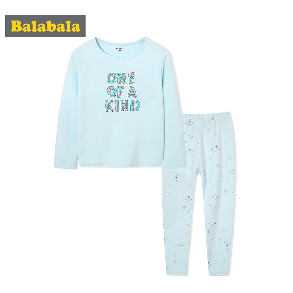 6b23956774 Balabala Spring Autumn Girls Soft Cotton Printed Snug Fit Pjs Set Teenage Girl  Sleepwear Pajamas Set Nightwear Pijamas Mujer