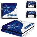 Nfl dallas cowboys ps4 adesivo de pele decalque de vinil para sony ps4 playstation 4 console e 2 controladores de adesivos