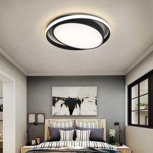 Image 5 - ミニマリズム白/黒現代のledシーリングライト寝室玄関ホームlamparasデ手帖ためランパーダled天井ランプ