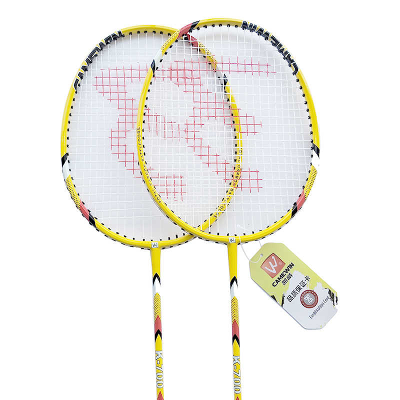 1 Pair High Quality Carbon Badminton Racquet CAMEWIN Brand Professional Badminton Racket With Bag Yellow Black Red Grey
