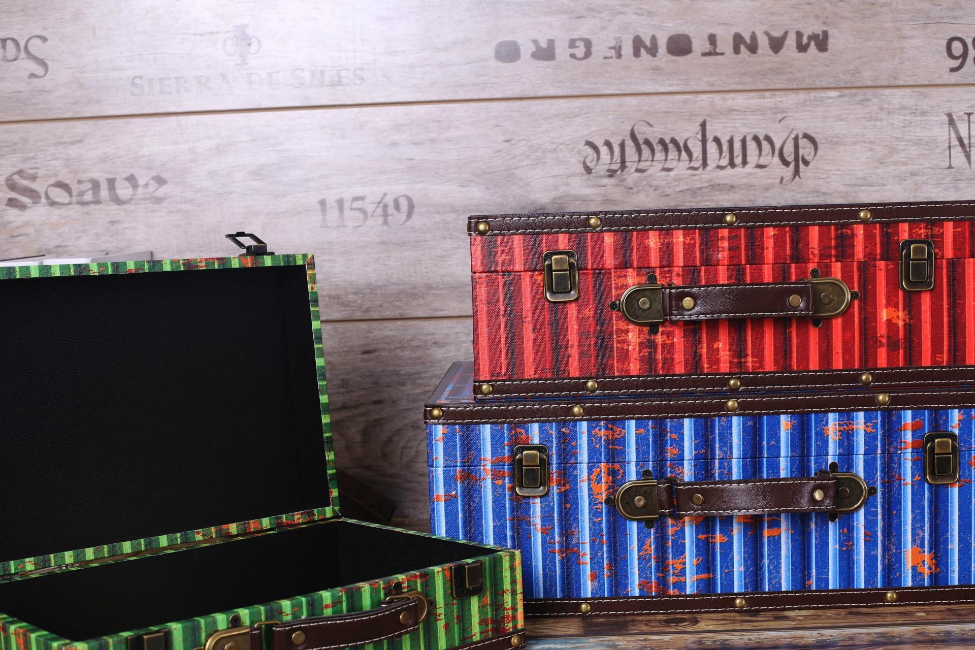 Rétro Boîte De Rangement Vintage Home Decor Shabby Chic En Bois Boîtes Bar Café Boutique Décoration Tir Props - 3