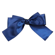 Women's Bow Hair Clips Barrette Ponytail Holder Dark Blue