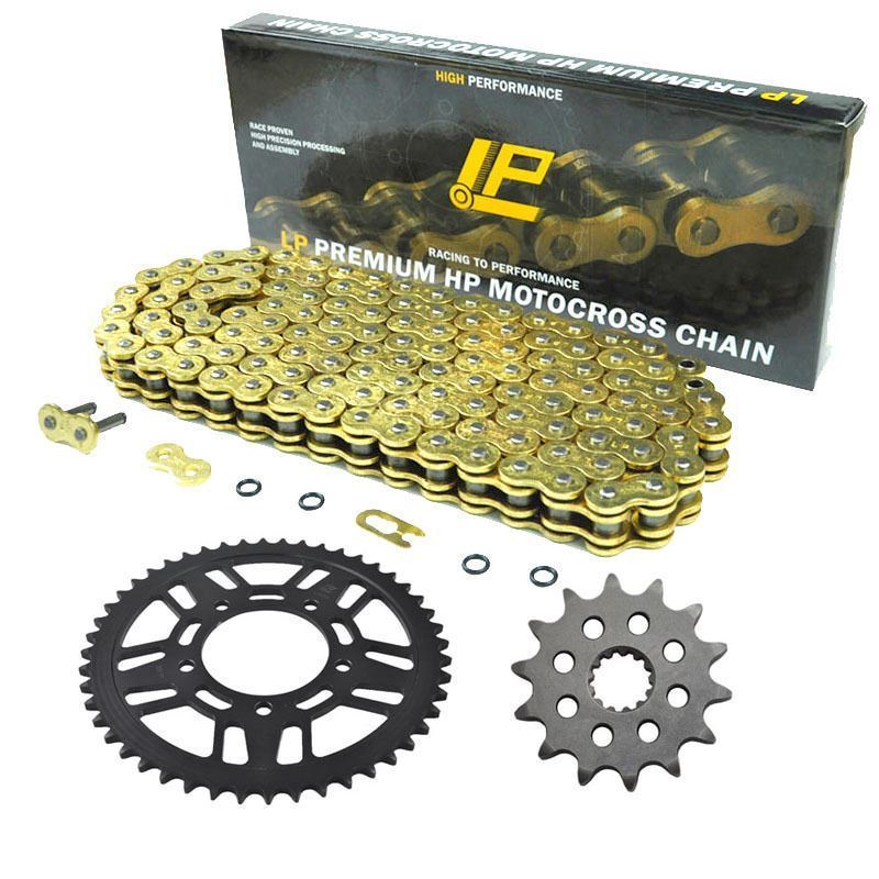 LOPOR Hight Quality Packing MOTORCYCLE 520 CHAIN Front 13T & Rear 48T SPROCKET Kit Set FOR Kawasaki KX250F N1,N2  2004 2005 1 set front and rear sprocket chain