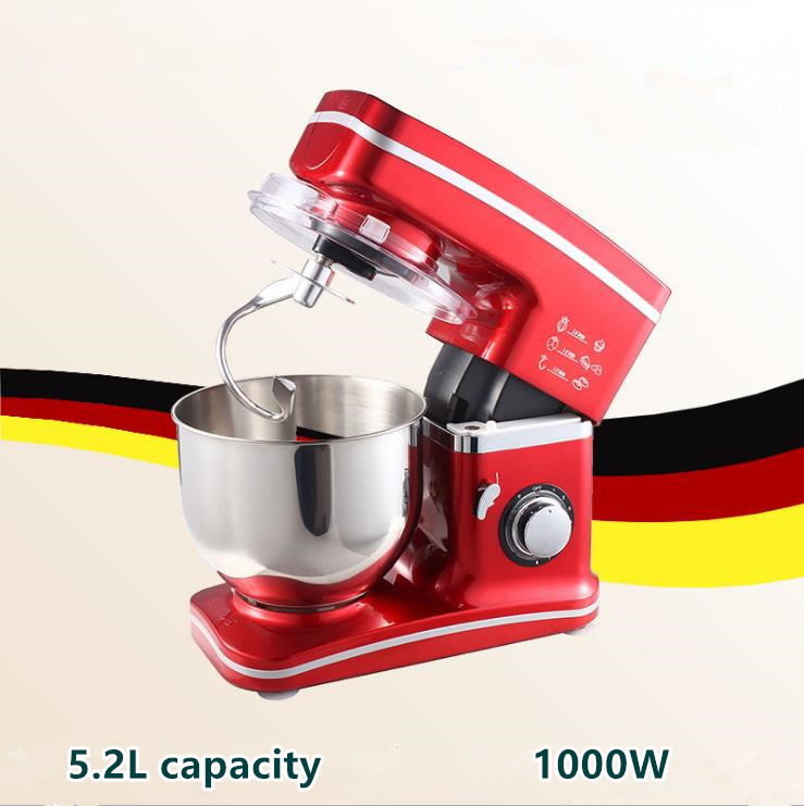 5L Stainless Steel Bowl 8 Speed Electric Kitchen Dough Mixer Tilt Head and Cooking Blender Machine