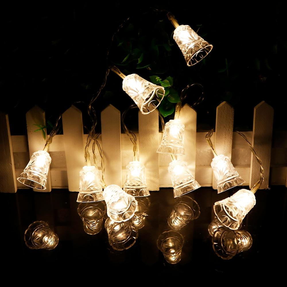 Christmas Tree Indoor Lights: 1pcs Bell Led String 10leds 120cm Christmas Tree Decor