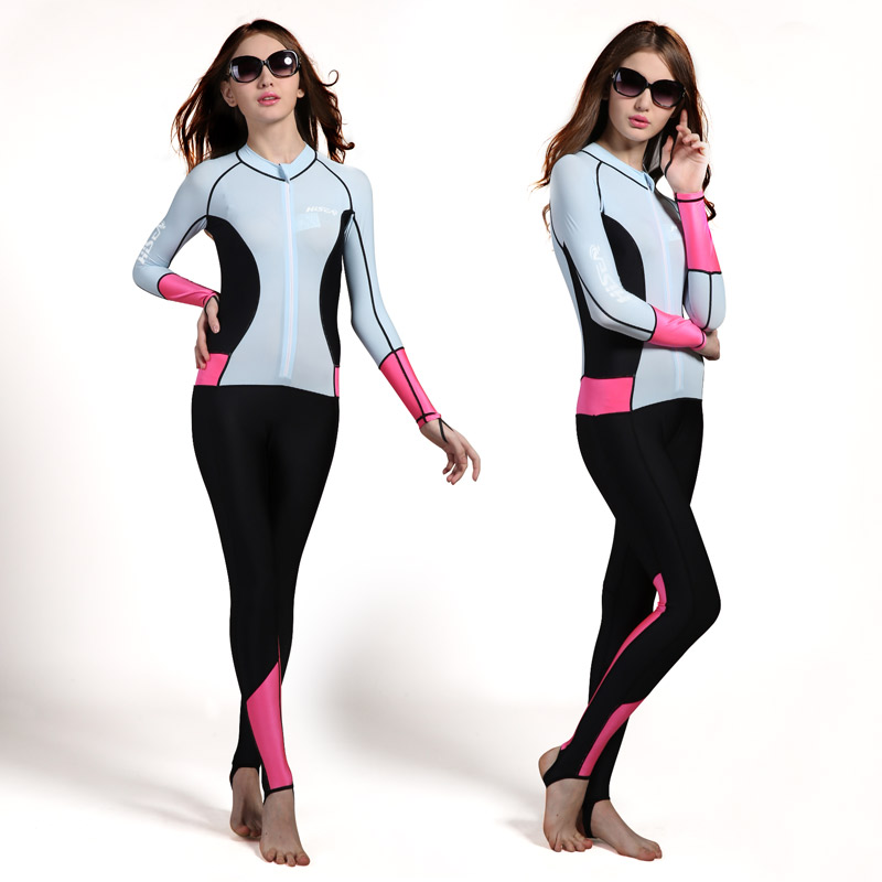 Hisea womens wetsuit lycra skin dive suit slim full body in Wetsuit from Sports Entertainment