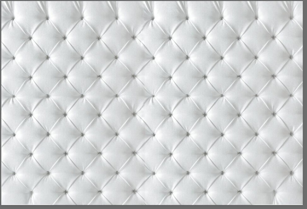 7x5FT Light Grey Gray Tufted Leather Pattern Diamonds Button Custom Photography Studio